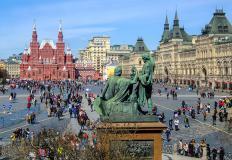 Piazza Rossa, Mosca, in Russia