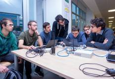 Il gruppo vincitore. Foto archivio Università di Trento