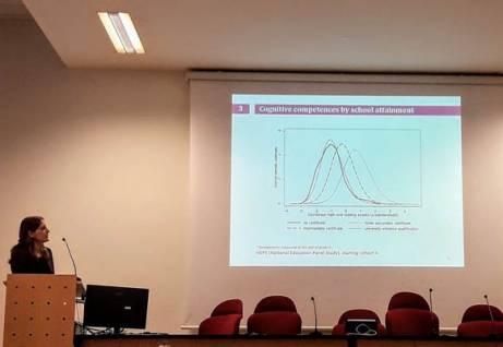 La lectio di Heike Solga alla Scuola di dottorato in Scienze sociali. Archivio Università di Trento